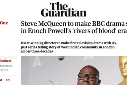 Steve McQueen, who won an Oscar for 12 Years a Slave, said his BBC drama is about a 'legacy that shaped the Britain we live in today'. Photograph: Xinhua/Landov/Barcroft Media