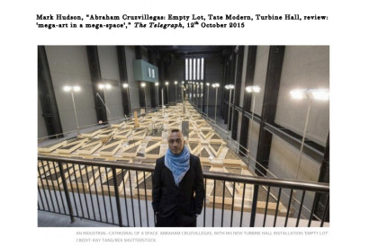 AN INDUSTRIAL-CATHEDRAL OF A SPACE: ABRAHAM CRUZVILLEGAS, WITH HIS NEW TURBINE HALL INSTALLATION 'EMPTY LOT' CREDIT: RAY TANG/REX SHUTTERSTOCK