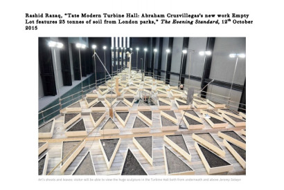 Art's shoots and leaves: visitor will be able to view the huge sculpture in the Turbine Hall both from underneath and above