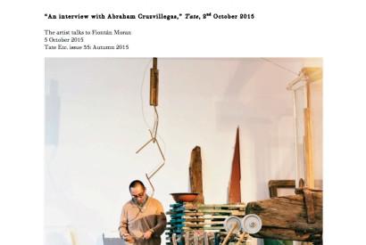 Abraham Cruzvillegas installing work for the exhibition Autodestrucción6: Chichimecachubo: Matzerath@S13, Gdan´sk City Gallery 2, Gdan´sk, Poland, 2014 Photograph by Krzysztof Olechnowicz