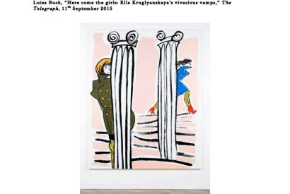 Ella Kruglyanskaya, White Columns, 2015 Picture: Image courtesy the artist and Thomas Dane Gallery, London