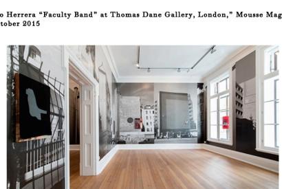 "Arturo Herrera, ""Faculty Band"" installation views at Thomas Dane Gallery, London, 2015  Courtesy: Thomas Dane Gallery, London.  - See more at: http://moussemagazine.it/arturo-herrera-thomas-dane-2015/#sthash.bVuIYzho.dpuf"