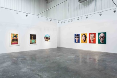 Hamra Abbas  Kaaba Pictures and Artists Series  Installation view