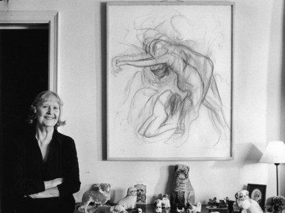Dorothea Tanning - Dorothea Tanning at home in New York, 1989