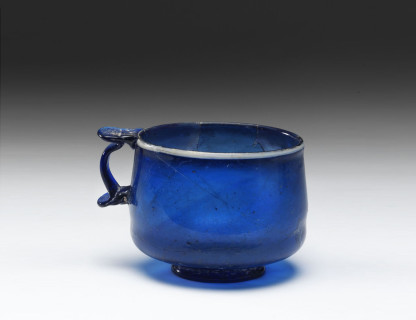 <span class=%22title%22>Roman Blue Glass Cup </span>