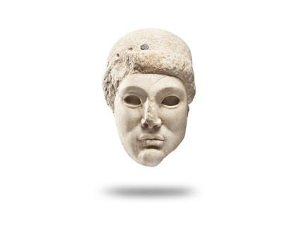 <span class=%22title%22>Archaistic Head of a Greek Kouros</span>