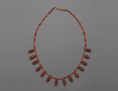 <span class=%22title%22>Egyptian 'Poppy Head' Necklace </span>