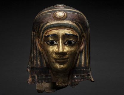 <span class=%22title%22>Gilt Cartonnage Mummy Mask</span>