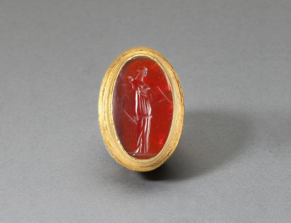 <span class=%22title%22>Gold and Carnelian Ring </span>