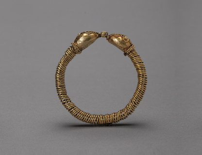 <span class=%22title%22>Gold Coiled Wire Bracelet</span>