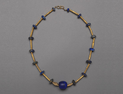 <span class=%22title%22>Bactrian Gold and Lapis Necklace</span>