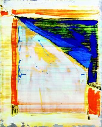 William Bradley and Mark Selby Untitled 1 Oil on aluminium 125.5 x 100 cm