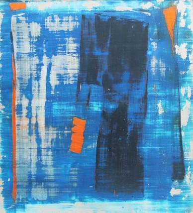William Bradley and Mark Selby Untitled 4 Oil on aluminium 125.5 x 113 cm