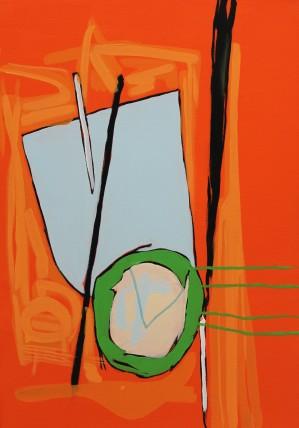 William Bradley Green Shoots 2014 Oil on canvas 80 x 55 cm.