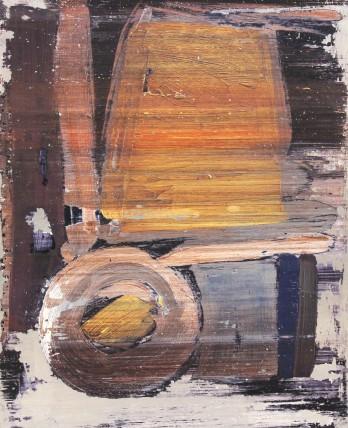 William Bradley and Mark Selby Untitled 10 Oil on aluminium 55.9 x 70 cm