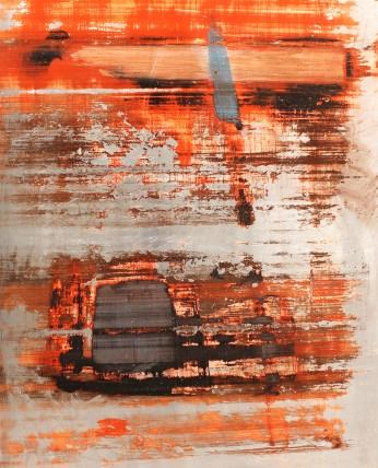 William Bradley and Mark Selby Untitled 12 Oil on aluminium 90.2 x 113 cm