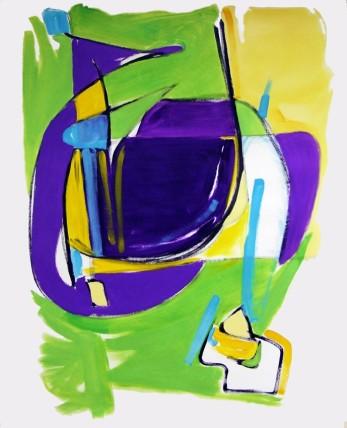 William Bradley Pot Luck (2014) Oil on paper 152 x 122 cm