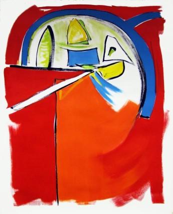 William Bradley Start Your Engines (2014) Oil on paper 152 x 122 cm