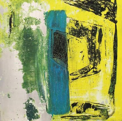 William Bradley and Mark Selby Untitled 7 Oil on aluminium 63 x 62.5 cm