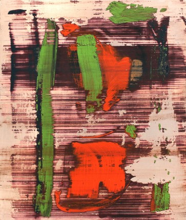 William Bradley and Mark Selby Untitled 13 Oil on aluminium 80 x 100 cm