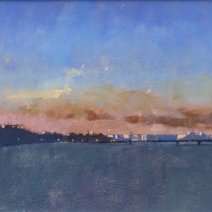 David Sawyer RBA - London sunset, view from Lambeth Bridge