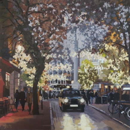 Jennifer Greenland - Christmas lights, Monmouth Street