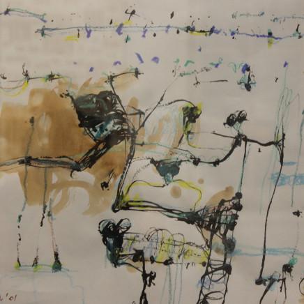 John Olsen - Frogs, 2001