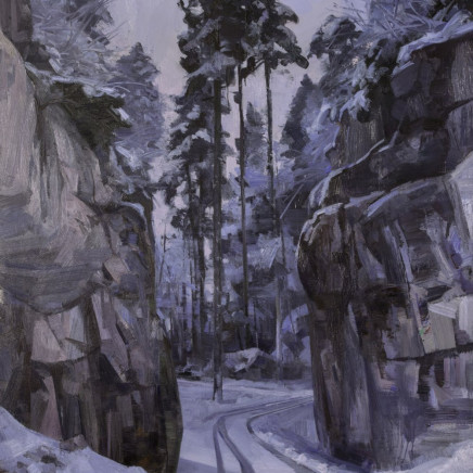 Tai-Shan Schierenberg - Quarry Road Winter – Black Forest, 2016