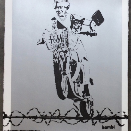 Dog Save the Queen (Silver screen print)