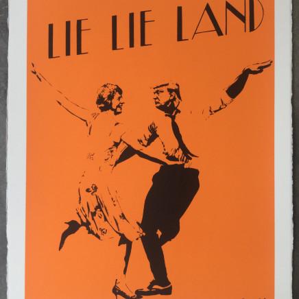 Lie Lie Land (orange) screenprint