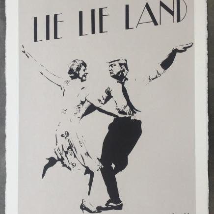 Lie Lie Land (grey) screenprint