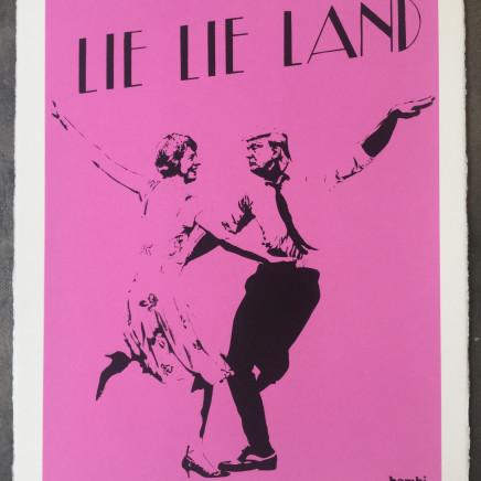 Lie Lie Land (pink) screenprint