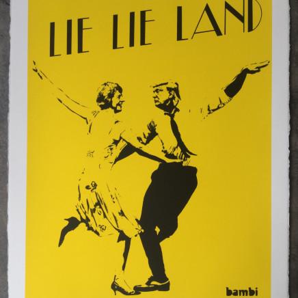 Lie Lie Land (yellow) screenprint