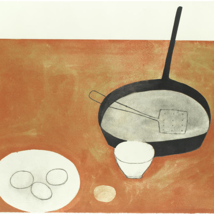 William Scott RA - Still Life with Frying Pan and Eggs, 1973