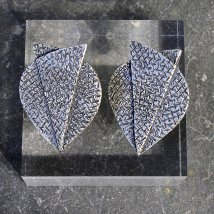 Helen Feiler - Double Layer, Half Circle Stud Earrings