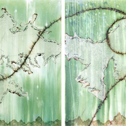 What this Earth does not Remember I and II (diptych), 2020