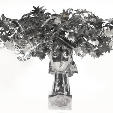 Ada Cabeza con Flores Plateadas, 2010