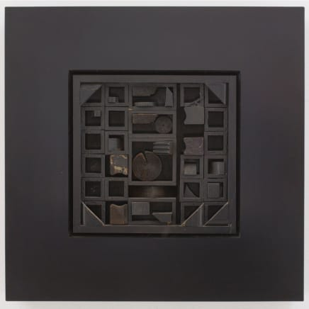 Louise Nevelson - Black Excursion 5