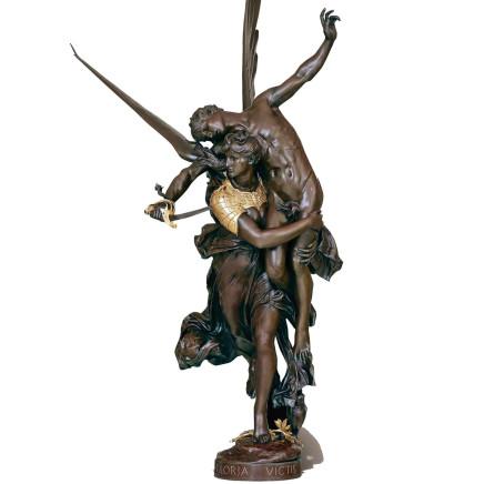 Antonin Mercié / Ferdinand Barbedienne - Gloria Victis, end of 19th century