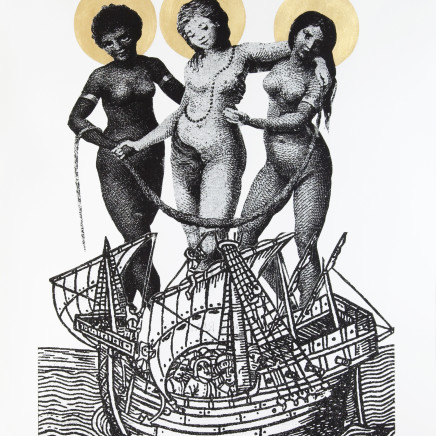 Godfried Donkor - THREE MADONAS, 2009
