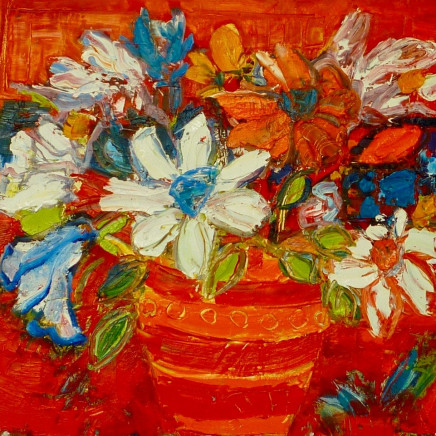 Penny Rees - Red Striped Vase