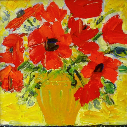 Penny Rees - Striped Yellow Vase