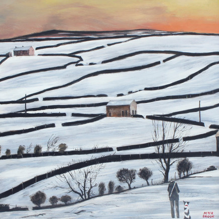 Peter Brook RBA - Swaledale sunset