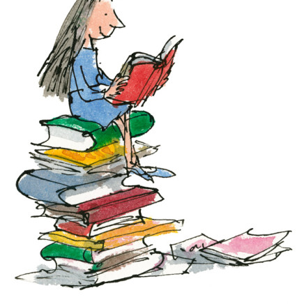 Quentin Blake/Roald Dahl - Her own small bedroom