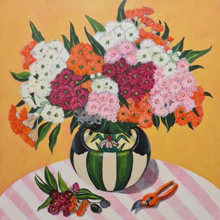 John Klein - Gum Blossoms in Art Deco Vase, 2020