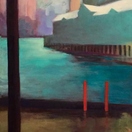 Sue Macleod-Beere - Wet Day-Pier 1, 2018