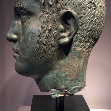 A Roman Bronze Head probably the portrait of Severus Alexander