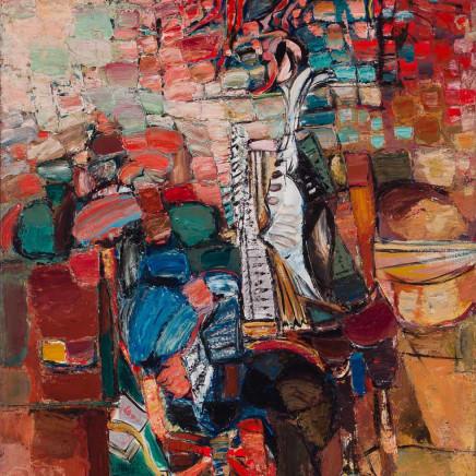 Ceri Richards - Interior with Piano, 1953-54