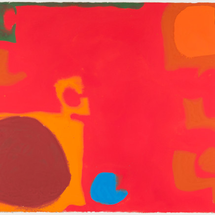 Patrick Heron - Yellows and Browns Interlocking with Soft Cadmium (Blue Flash), 1968
