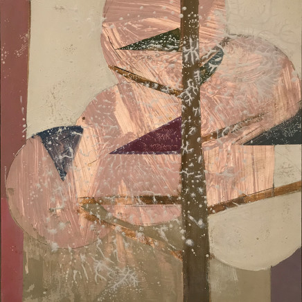 Daisy Cook - Tree with Magenta Triangles